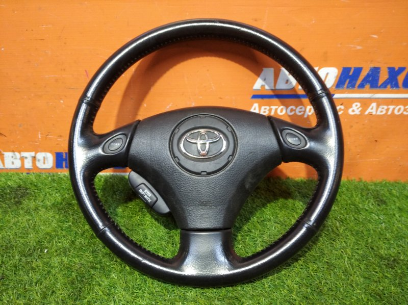 Руль Toyota Ipsum ACM21W 2AZ-FE 2001 ХТС мультируль кожа+airbag без заряда