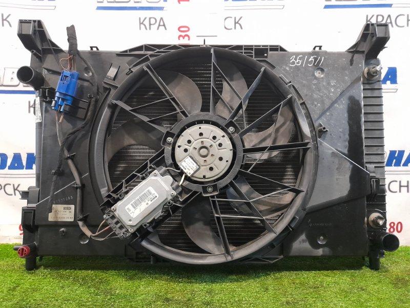 Радиатор двигателя Mercedes-Benz B200 W245 266.960 2005 A/T в сборе с диффузором, вентилятором и