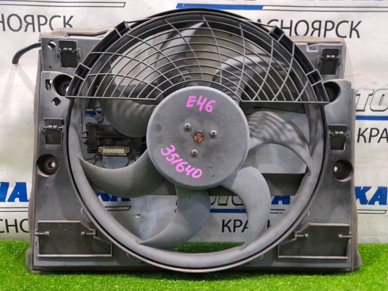 Вентилятор радиатора Bmw 320I E46 M52B20 1998 6904768 с диффузором и блоком управления