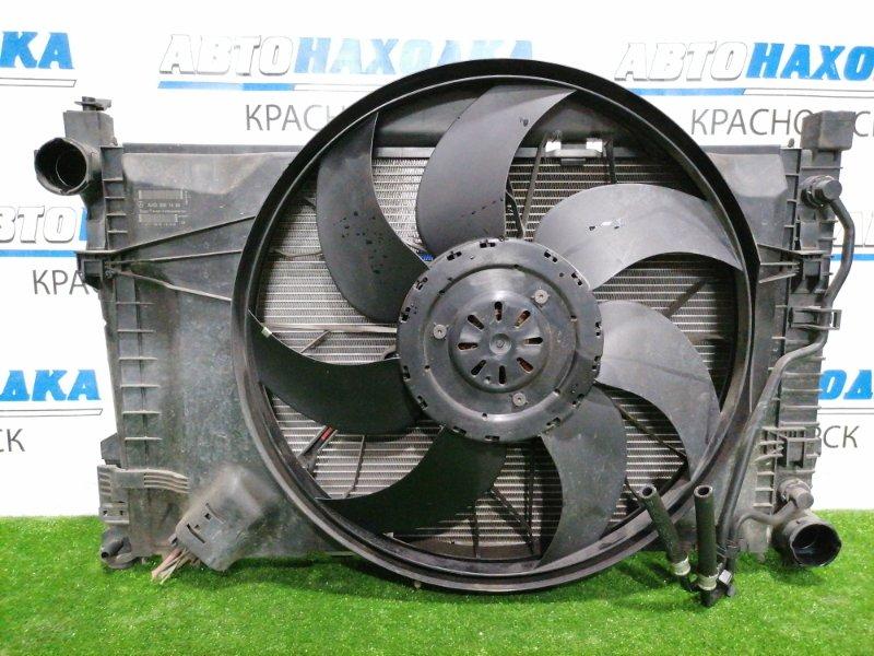 Радиатор двигателя Mercedes-Benz C200 W203 M271E18 2000 в сборе с диффузором, вентилятором и
