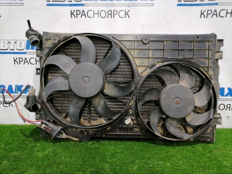 Радиатор двигателя Volkswagen Golf 1K5 CAXA 2003 с диффузором и вентиляторами/ GOLF 5, JETTA