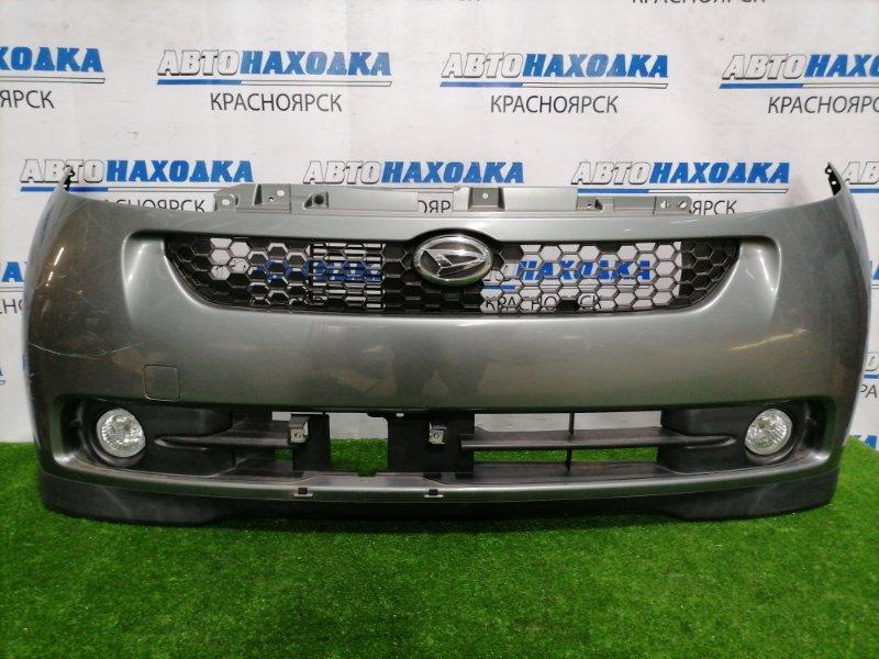 Бампер Daihatsu Sonica L405S KF-DET 2006 передний передний, с туманками, решеткой. Есть потертости,
