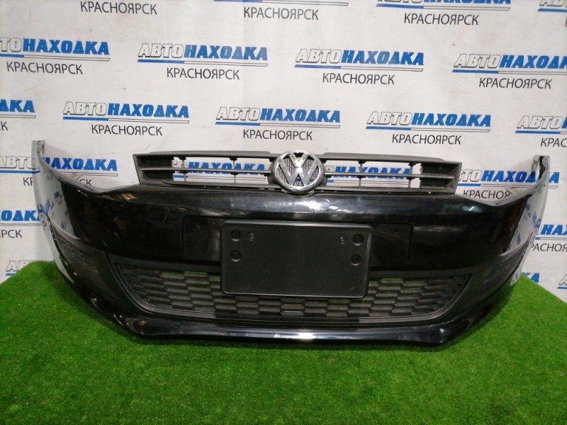 Бампер Volkswagen Polo 6R1 CBZC 2008 передний передний, с заглушками, решеткой. Есть царапины до