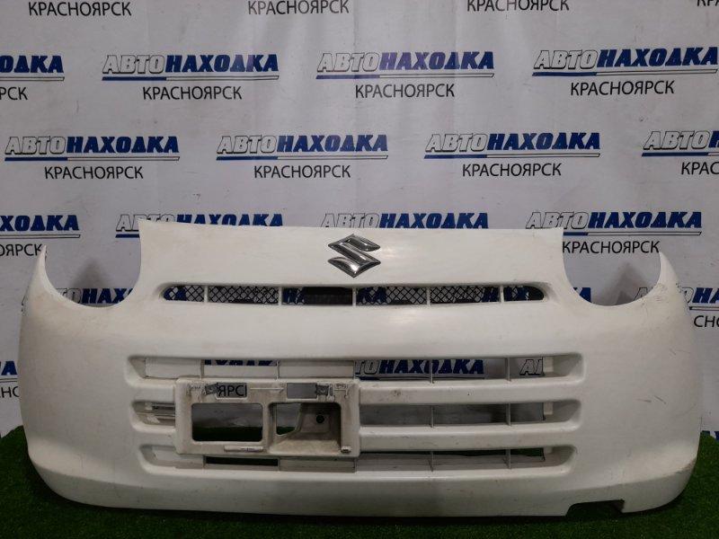 Бампер Suzuki Alto HA25V K6A 2009 передний передний, цвет 26U, есть потертость до пластика со