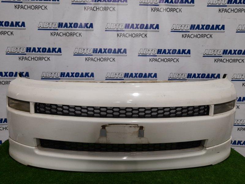 Бампер Toyota Bb NCP31 1NZ-FE 2003 передний передний, рестайлинг, с повторителями (52-033). Есть
