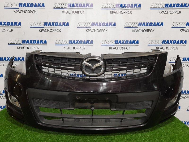 Бампер Mazda Mpv LY3P L3-VE 2006 передний L208-50031 передний, дорестайлинг, с туманками, решеткой.