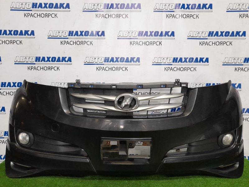 Бампер Toyota Bb QNC21 3SZ-VE 2005 передний передний, дорестайлинг, с туманками, решеткой,