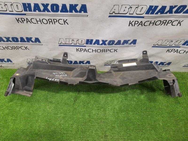 Накладка на телевизор Toyota Aqua NHP10 1NZ-FXE 2011 на рамку радиатора где замок капота, с
