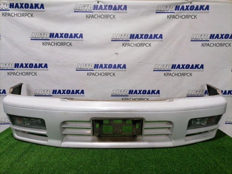 Бампер Nissan Gloria PY33 VG30DE 1997 передний 620224P900 Передний, рестайлинг, с туманками (2156),
