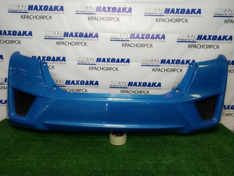 Бампер Honda Fit GP5 LEB 2013 задний задний, голубой (B595P), дорестайлинг, есть потертости,