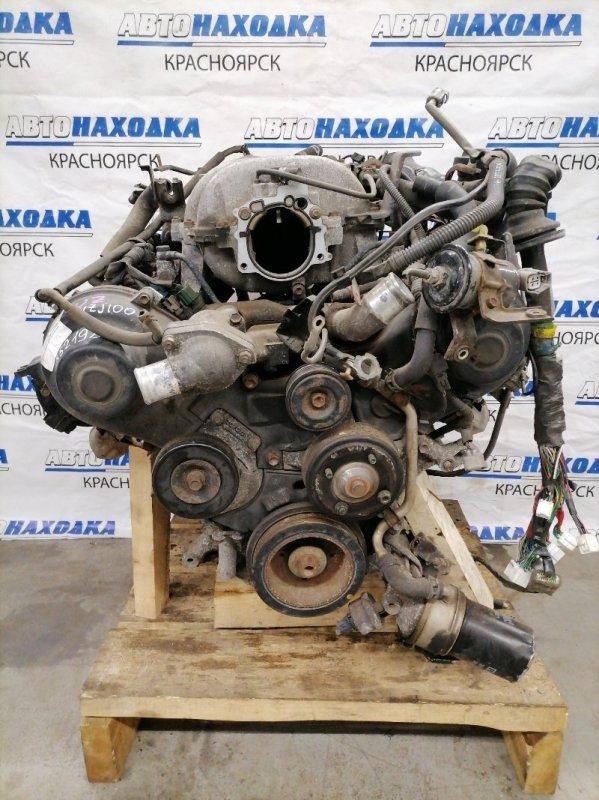 Двигатель Toyota Land Cruiser UZJ100W 2UZ-FE 1998 На ДВС есть коллектора, форсунки, шкив коленвала,