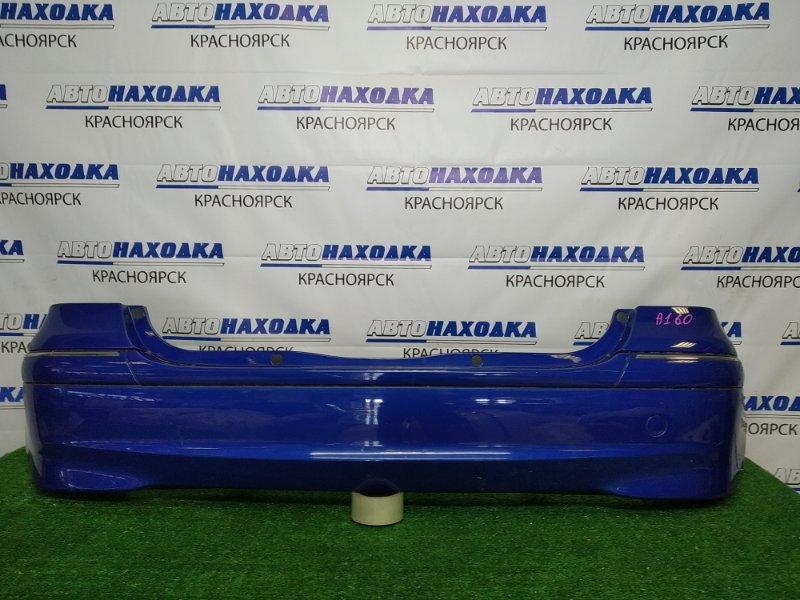 Бампер Mercedes-Benz A160 W168.033 M166 E16 2001 задний задний, синий (933U), рестайлинг, есть