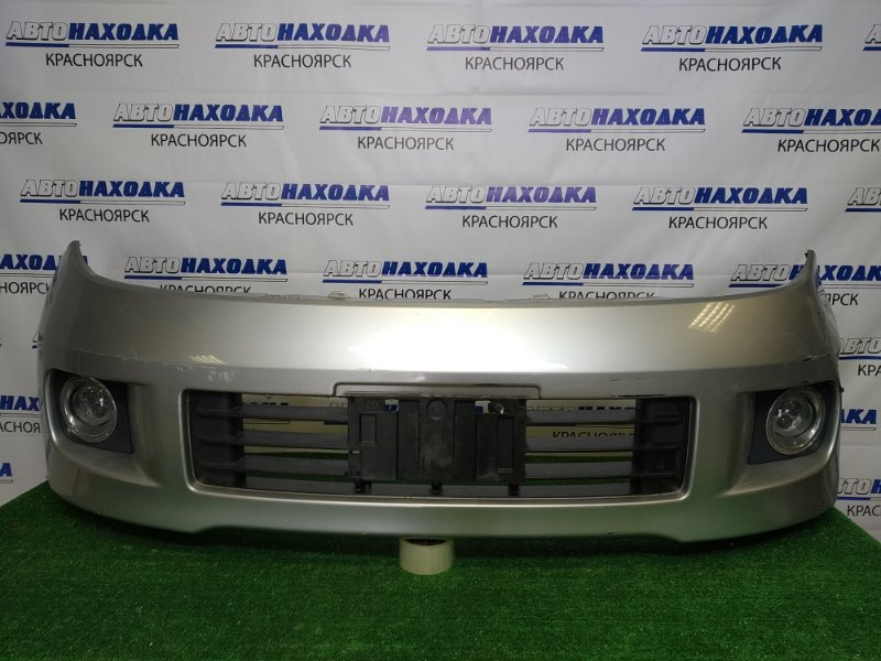 Бампер Nissan Elgrand ME51 VQ25DE 2004 передний передний, рестайлинг, серебристый (KY0), с туманками,