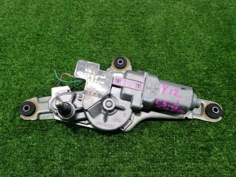 Мотор дворников Nissan Wingroad Y12 HR15DE 2005 задний С 5-ой двери, с фишкой на 3 контакта