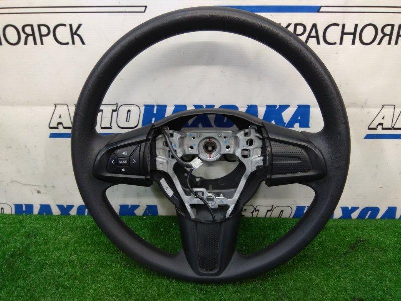 Руль Toyota Passo M700A 1KR-FE 2016 черный, с кнопками, без AIRBAG