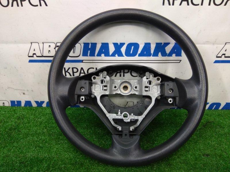 Руль Suzuki Wagon R MH34S R06A 2012 ХТС, черный, без AIRBAG