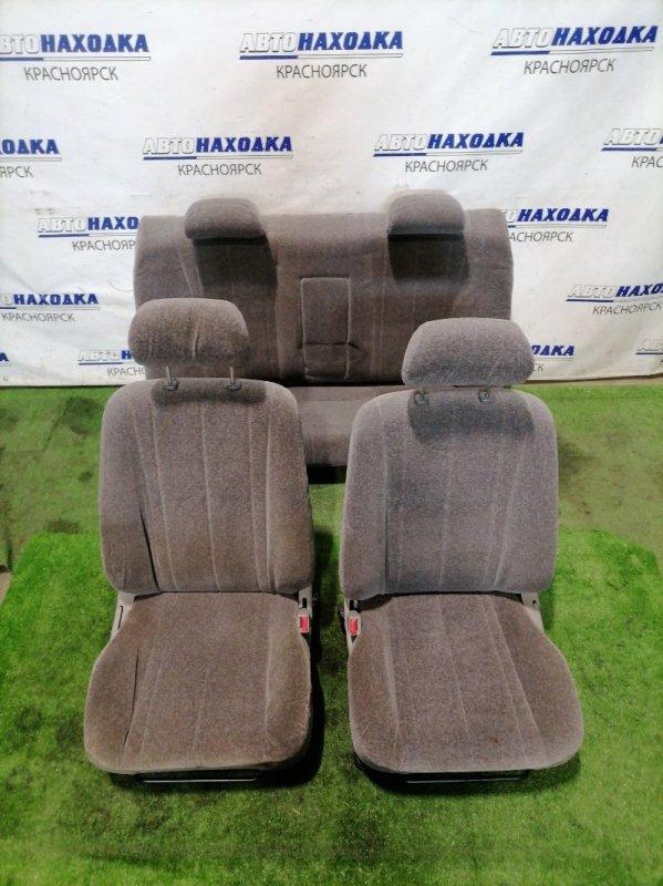 """Сиденья Toyota Corolla AE110 5A-FE 1997 Комплект передние+задний """"диван"""". Механические"""