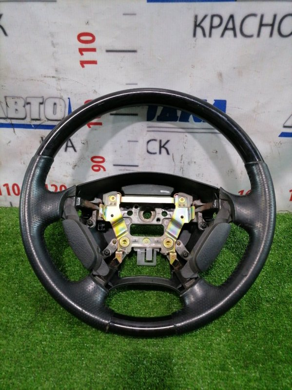 """Руль Honda Odyssey RA6 F23A 1999 Кожаный, со вставками под черный мрамор (""""Absolute)"""", без airbag, есть"""