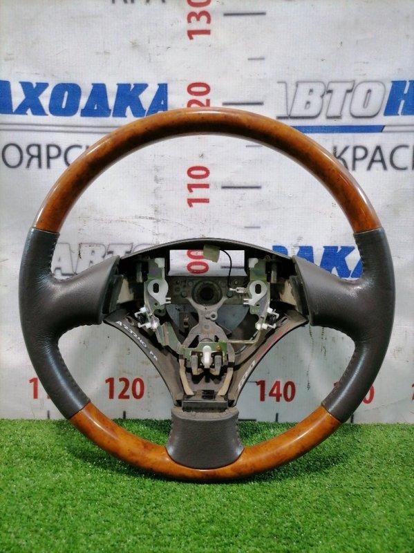 Руль Toyota Premio AZT240 1AZ-FSE 2001 Кожаный, без заряда, без заглушки, есть потертости на