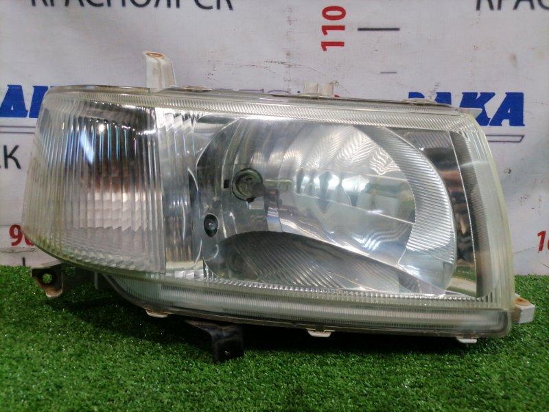 Фара Toyota Probox NCP50V 2NZ-FE 2002 передняя правая 52-075 Правая, галоген (52-075), есть микротрещины