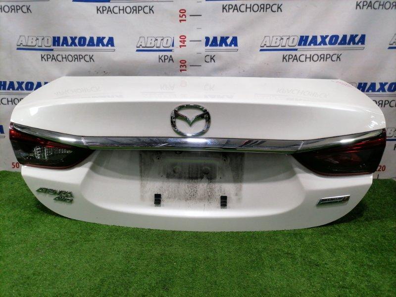Крышка багажника Mazda Atenza GJ2AP SH-VPTR 2015 задняя Задняя, цвет 25D, с камерой заднего вида, с