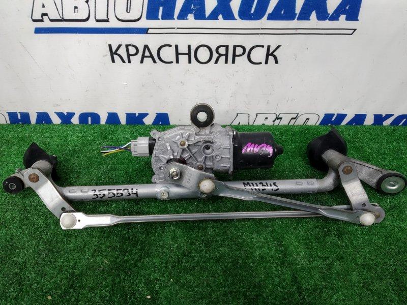 Мотор дворников Suzuki Wagon R MH34S R06A 2012 передний, в сборе с трапецией, пробег 47 т.км