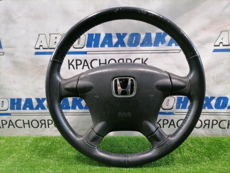 Airbag Honda Cr-V RD5 K20A 2001 водительский, с рулем, кожа, с подушкой, без пиропатрона. Кожа с