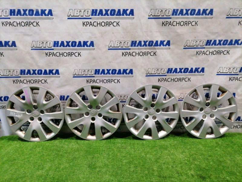 Колпаки колесные Subaru Impreza GH2 EL15 2007 Оригинал, R15, комплект 4 шт, есть потертости, один