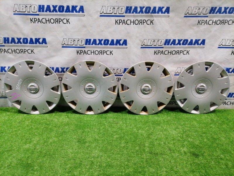 Колпаки колесные Nissan Wingroad WFY11 QG15DE 2001 Комплект, 4 шт оригинал, есть потертости. R14