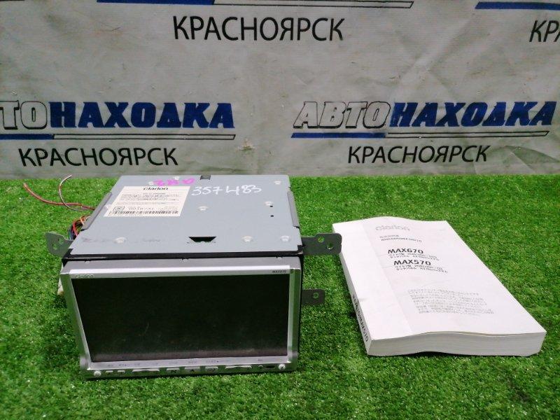 Магнитола Subaru Impreza GH2 EL15 2007 MAX670 Clarion max670, DVD/CD, WMA/MP3, HDD, с фишками, креплениями.