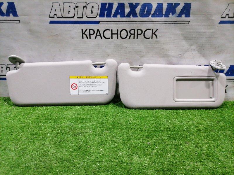 Козырек солнцезащитный Toyota Vitz KSP130 1KR-FE 2010 Пара L+R, правый с зеркалом, под чистку