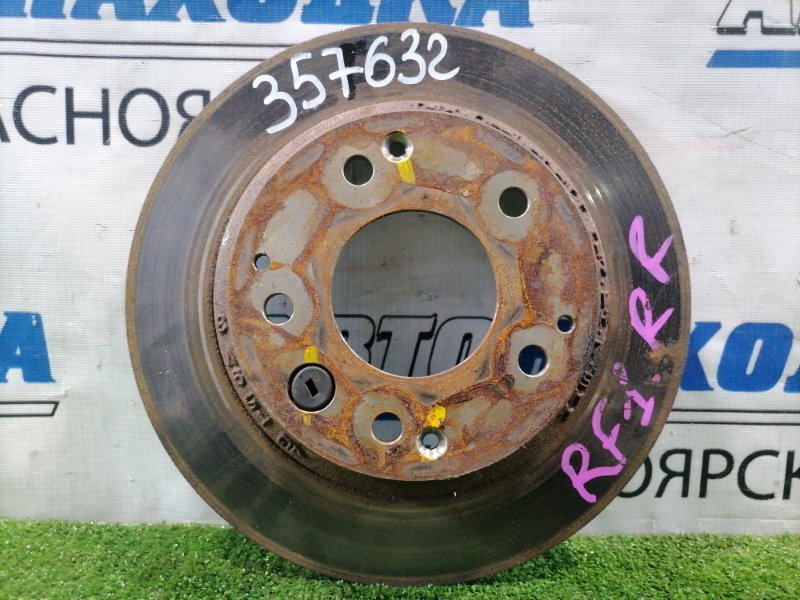 Диск тормозной Honda Stepwgn RF1 B20B 1996 задний задний, невентилируемый, диаметр 282 мм
