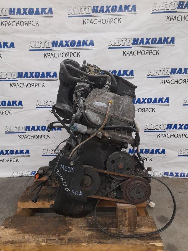 Двигатель Nissan Moco MG21S K6A 2002 2489210 K6A № 2489210. Пробег 65т. км. Без выпускного коллектора и