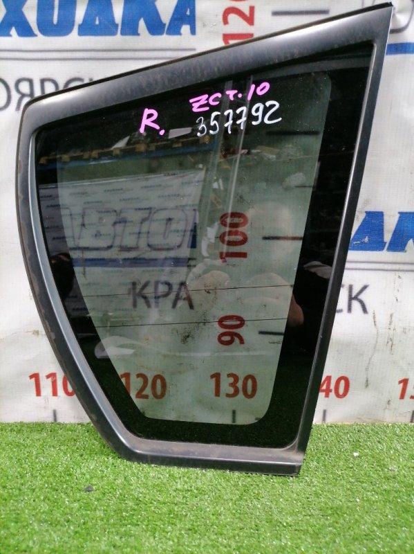 Стекло собачника Toyota Opa ZCT10 1ZZ-FE 2000 заднее правое Заднее правое, тонировка заводская, с