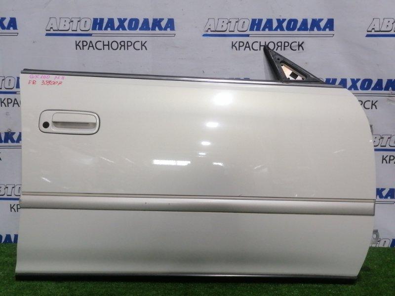 Дверь Toyota Mark Ii GX100 1G-FE 1996 передняя правая Передняя правая, цвет: 057, без обшивки, под