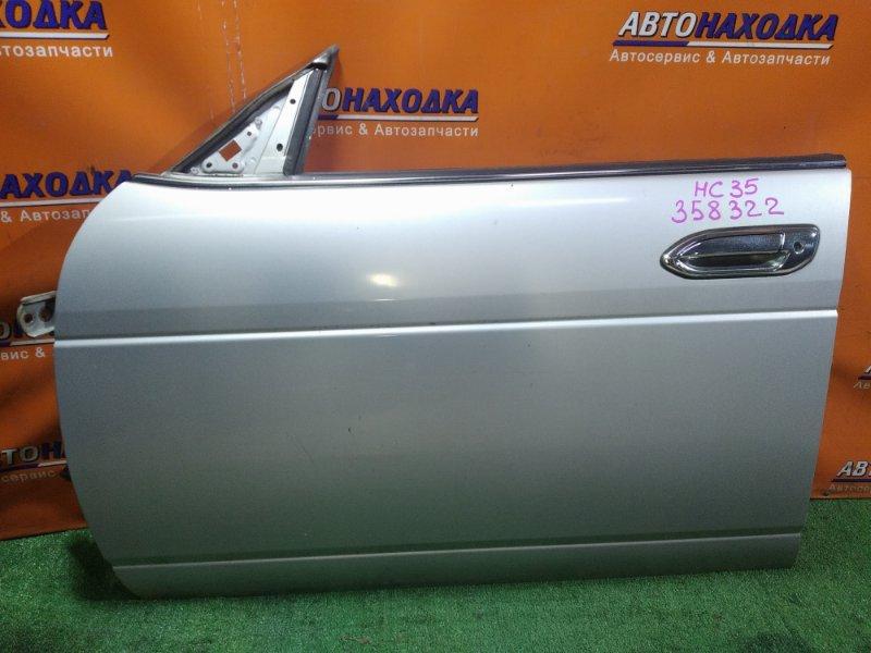 Дверь Nissan Laurel HC35 RB20DE 05.2001 передняя левая В СБОРЕ