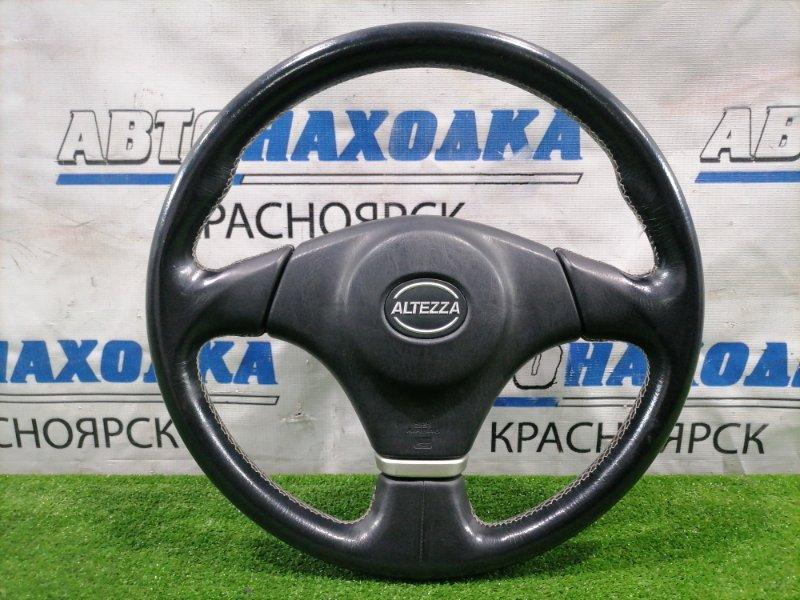 Airbag Toyota Altezza GXE10 1G-FE 2001 Водительский, с рулем, без заряда, кожа, есть потертости.