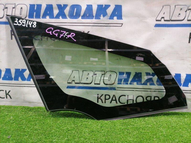 Стекло боковое Honda Fit Shuttle GG7 L15A 2011 переднее правое переднее правое, в кузов