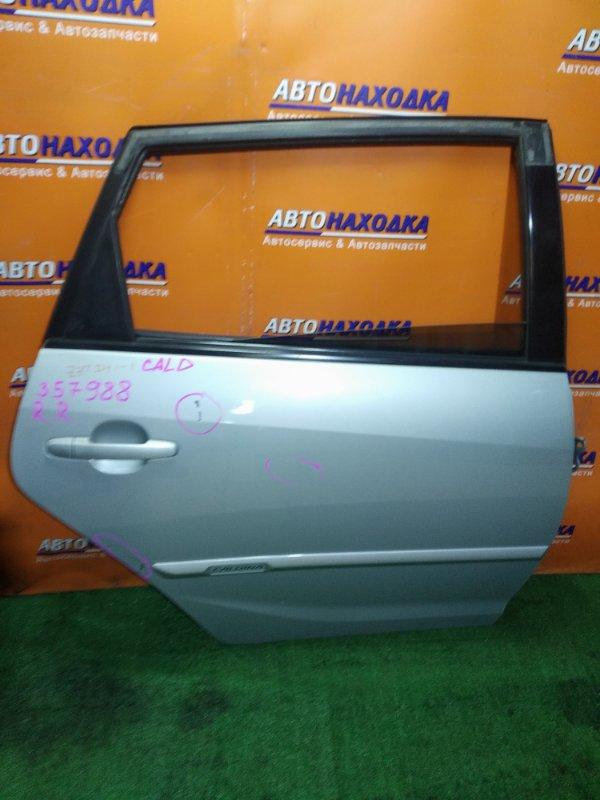 Дверь Toyota Caldina ZZT241 1ZZ-FE 12.2002 задняя правая в сборе . царапины