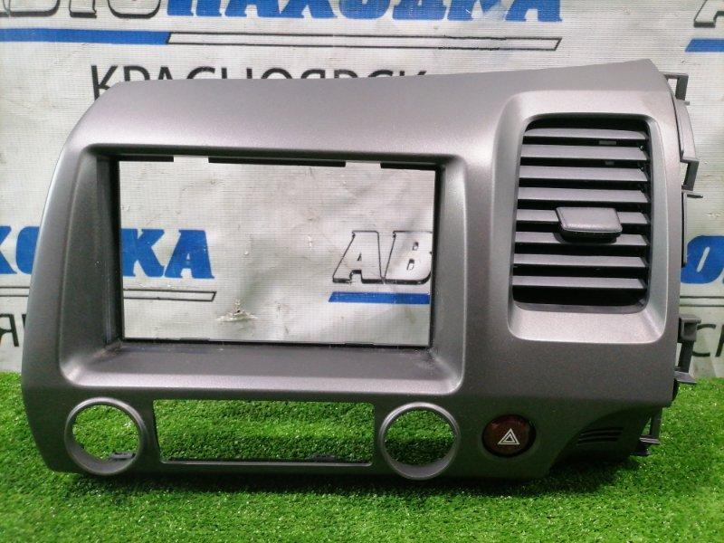 Консоль магнитофона Honda Civic FD1 R18A 2005 77250-SNA-U010 с дефлектором обдува, правый руль, с