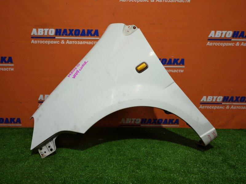 Крыло Daihatsu Yrv M201G K3-VE 2000 переднее левое цвет W09 хтс +повторитель