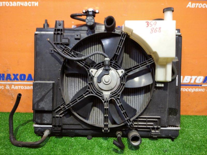 Радиатор двигателя Nissan Tiida Latio SC11 HR15DE 2004 а/т 1 диффузор +1 вентилятор+бачек