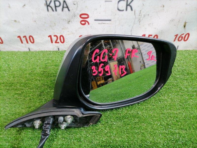 Зеркало Honda Fit Shuttle GG7 L15A 2011 переднее правое Правое, цвет NH700M, с повторителем, есть