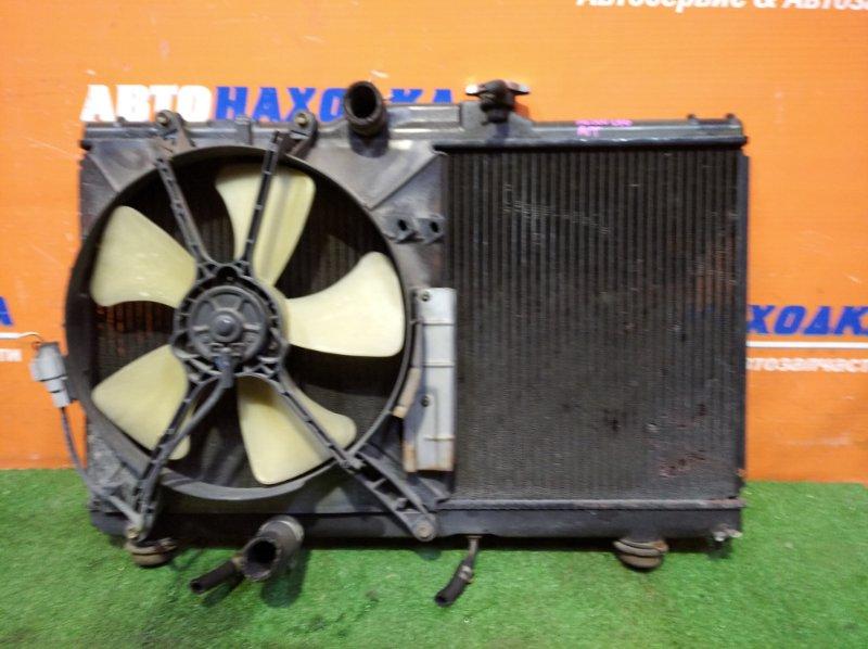 Радиатор двигателя Toyota Sprinter AE100 5A-FE 1991 а/т 1 диффузор +1 вентилятор