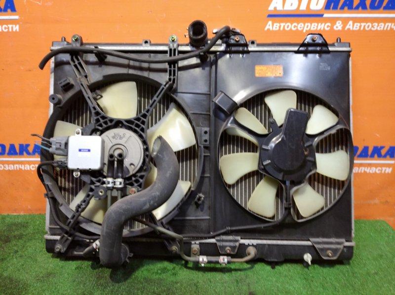 Радиатор двигателя Mitsubishi Rvr N61W 4G93 1997 а/т 2 диффузор +2 вентилятор+блок упр.