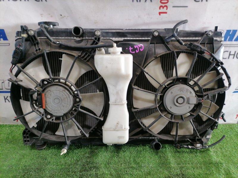 Радиатор двигателя Honda Fit Shuttle GG7 L15A 2011 CVT, в сборе, с диффузорами, вентиляторами,