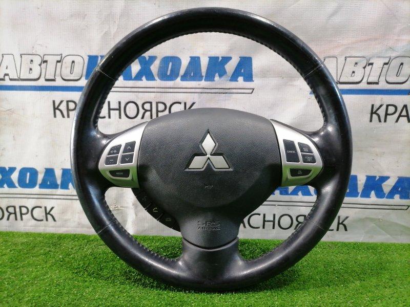 Airbag Mitsubishi Lancer CY4A 4B11 2007 водительский, без заряда, кожа. С кнопками. Есть потертости