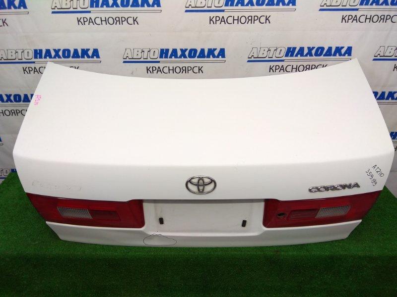 Крышка багажника Toyota Corona Premio AT210 4A-FE 1996 задняя белая (040), с замком, с фонарями 1 модели