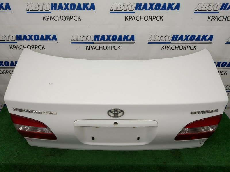 Крышка багажника Toyota Corolla AE110 5A-FE 1997 задняя В целом ХТС, 2 модель (рестайлинг), белая