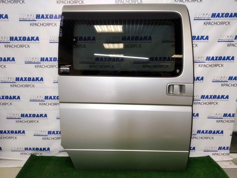 Дверь Nissan Elgrand ME51 VQ25DE 2002 задняя правая задняя правая, серебристая (KY0), в сборе, есть